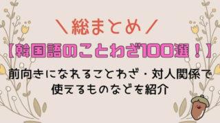 【韓国語のことわざ100選!総まとめ】前向きになれることわざ・対人関係で使えるものなどを紹介